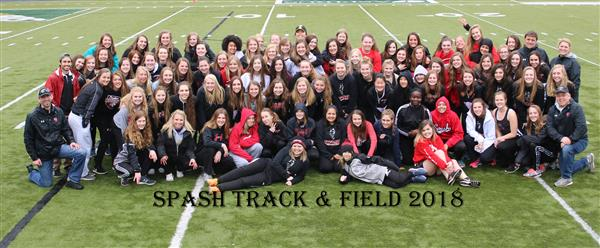 Girls track & field team photo