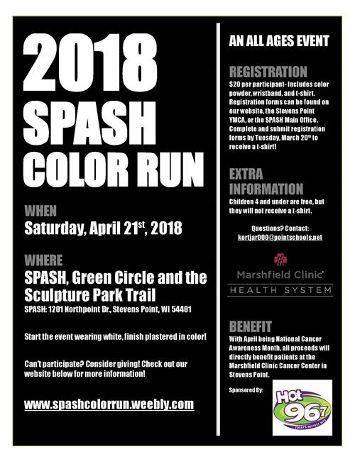 SPASH Color Run Poster