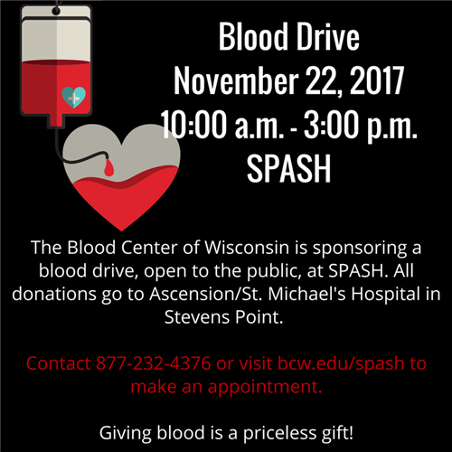 Blood Drive at SPASH November 22, 2017