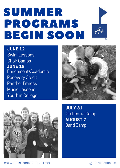 Summer Program Reminder