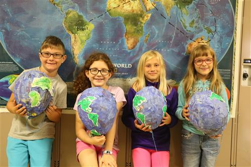 Second Grade Students Read Around the World - Twice