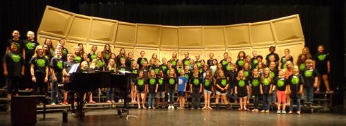 Combined Choir Camp Students