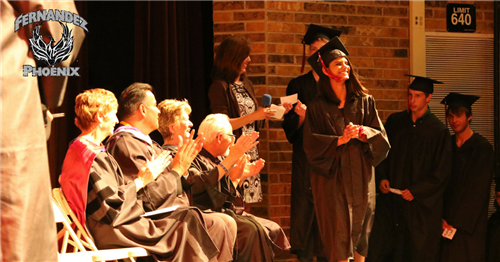 CFC Student Walks Across Stage
