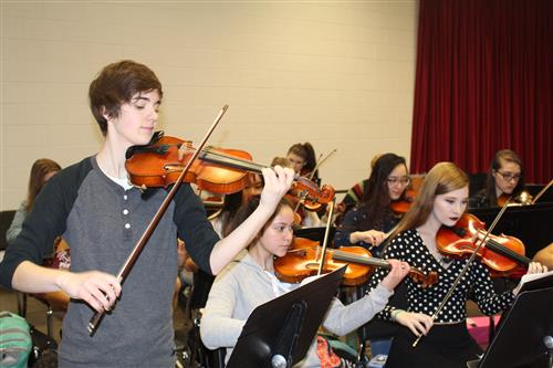 Student Plays Violin