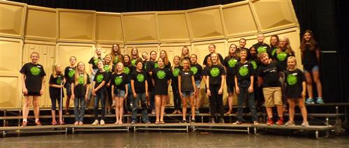 Secondary Choir Camp Students