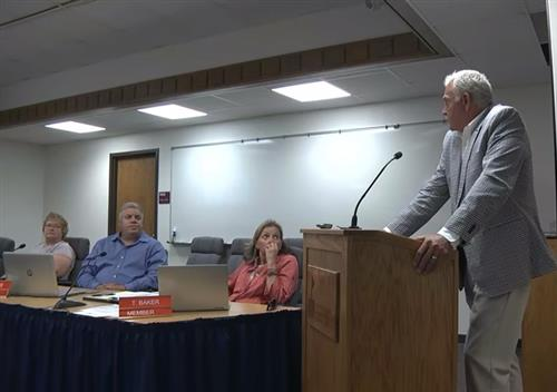 Superintendent Presents to School Board